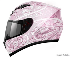 CAPACETE SHOX LILY ROSA