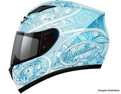 CAPACETE SHOX - LILY AZUL